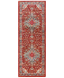 "Bohemian BOM-2307 Bright Red 2'11"" x 7'10"" Runner Area Rug"