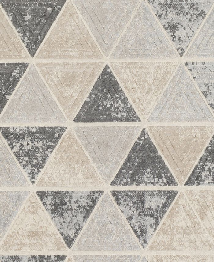 """Abbie & Allie Rugs - City CIT-2330 Taupe 18"""" Square Swatch"""