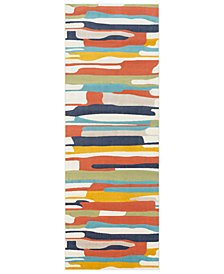 "Surya City CIT-2339 Coral 2'7"" x 7'3"" Runner Area Rug"