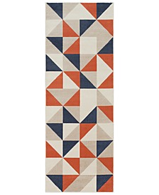 "City CIT-2314 Coral 2'7"" x 7'3"" Runner Area Rug"