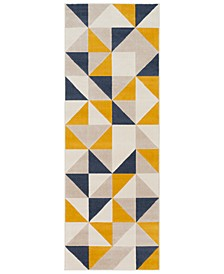 "City CIT-2316 Mustard 2'7"" x 7'3"" Runner Area Rug"