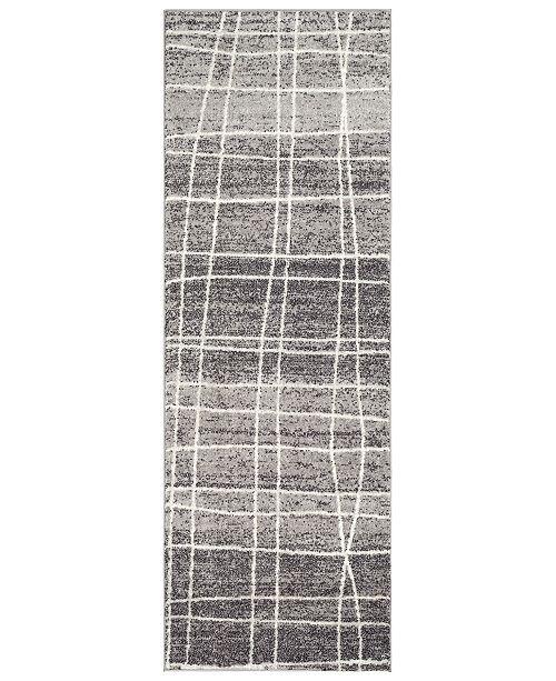 "Surya Elaziz ELZ-2328 Medium Gray 2'7"" x 7'6"" Runner Area Rug"