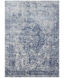 "Loloi Patina PJ-04 Blue/Stone 7'10"" Round Area Rug"