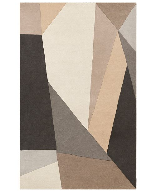 Surya Forum FM-7225 Charcoal 6' x 9' Area Rug