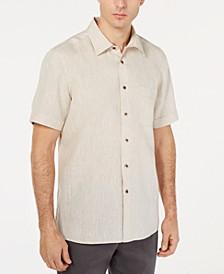 Men's Cross-Dye Short Sleeve Linen Shirt, Created for Macy's
