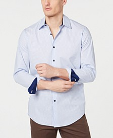 Men's Stretch Dot Stripe Shirt, Created for Macy's