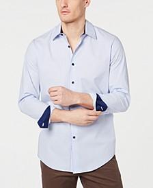 Men's Stretch Dot Stripe Shirt, Created for Macy's