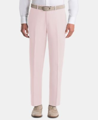 Men's UltraFlex Classic-Fit Pink Linen Pants