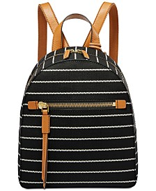 Fossil Striped Megan Backpack