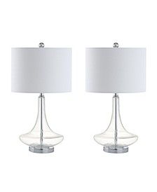 Cecile Glass Teardrop Led Table Lamp, Set of 2