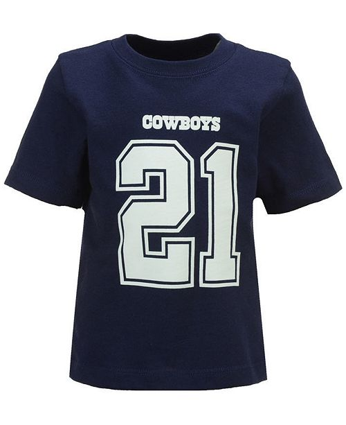 4c15a3383 Authentic NFL Apparel Ezekiel Elliott Dallas Cowboys Eligible Player Name   Number  T-Shirt