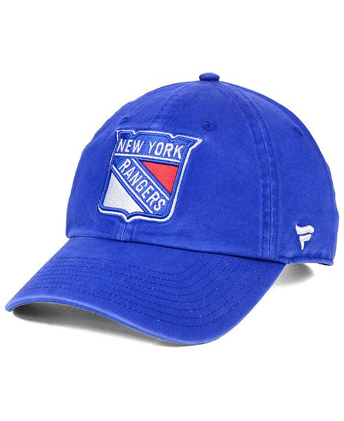Authentic NHL Headwear New York Rangers Fan Relaxed Adjustable Strapback Cap