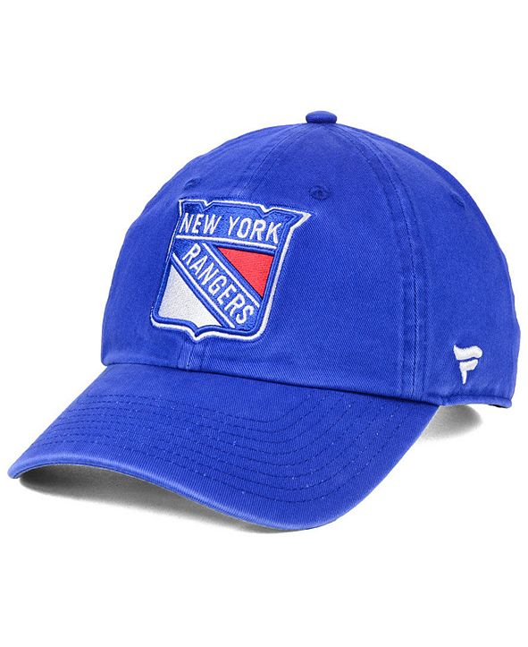 Authentic NHL Headwear New York Rangers Fan Relaxed Adjustable Strapback Cap