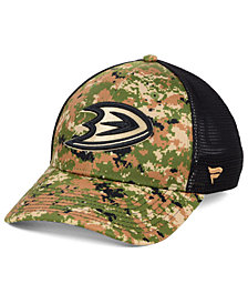 Authentic NHL Headwear Anaheim Ducks Military Appreciation Speed Flex Stretch Fitted Cap