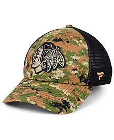 Authentic NHL Headwear Chicago Blackhawks Military Appreciation Speed Flex Stretch Fitted Cap