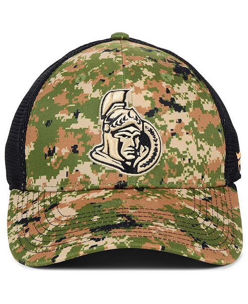 de33d341f Authentic NHL Headwear Ottawa Senators Military Appreciation Speed Flex  Stretch Fitted Cap - Sports Fan Shop By Lids - Men - Macy s