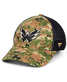 Authentic NHL Headwear Washington Capitals Military Appreciation Speed Flex Stretch Fitted Cap