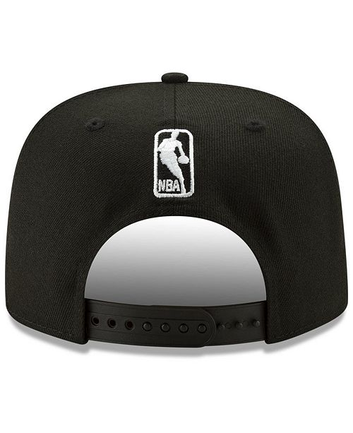watch cd894 33cb3 New Era Houston Rockets Retroword Black White 9FIFTY Snapback Cap ...