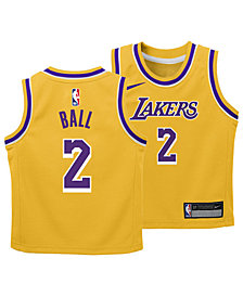 Nike Lonzo Ball Los Angeles Lakers Icon Replica Jersey, Toddler Boys (2T-4T)