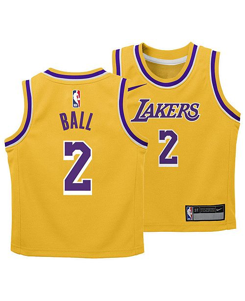 Nike Lonzo Ball Los Angeles Lakers Icon Replica Jersey 2f4616f29