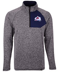 Authentic NHL Apparel Men's Colorado Avalanche Static Quarter-Zip Pullover
