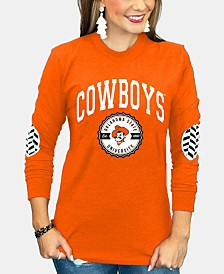 Gameday Couture Women's Oklahoma State Cowboys Elbow Patch Long Sleeve T-Shirt