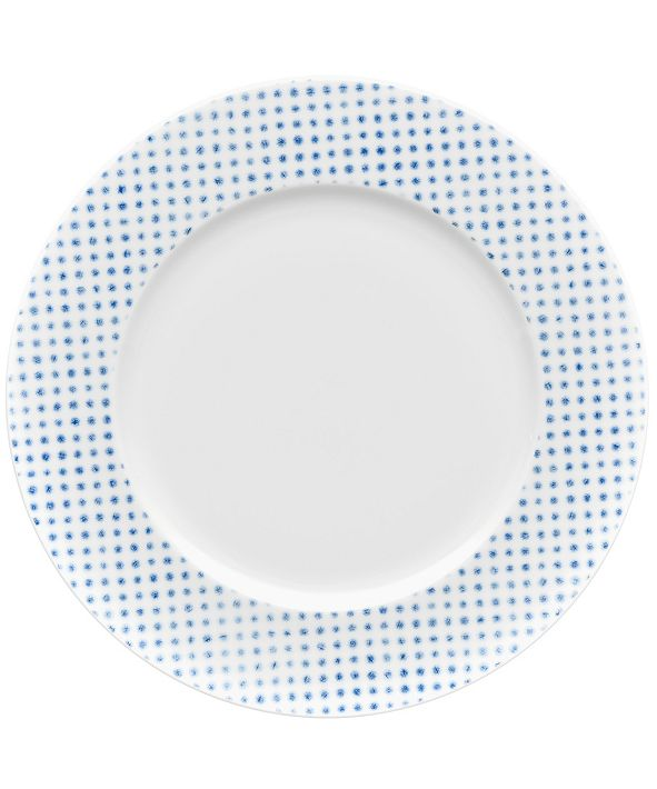 Noritake Hammock Rim  Dinner Plate - Dots, Created for Macy's