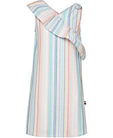 Tommy Hilfiger Big Girls Striped Cotton Oxford Dress
