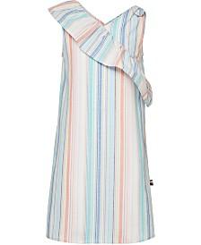 Tommy Hilfiger Big Girls Striped Cotton Oxford Dress