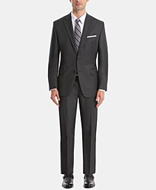 Men's UltraFlex Classic-Fit Grey Wool Suit Separates