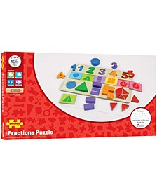 Wooden My First Fractions Puzzle