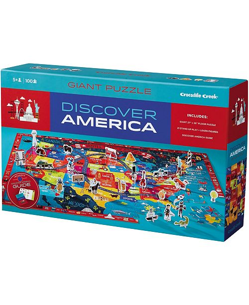 Crocodile Creek Discover America Puzzle + Play Floor Puzle- 100 Piece