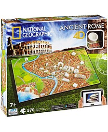 4D Cityscape Time Puzzle - National Geographic - Ancient Rome- 570 Pieces