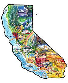 Sun and Fun - California Shaped Puzzle - 1000 Piece