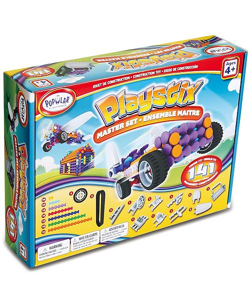 Popular Playthings Playstix Master Set- 141 Pieces