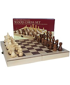 """10.5"""" Deluxe Folding Wood Chess Set"""
