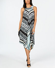 Style & Co Handkerchief-Hem Midi Dress, Created for Macy's
