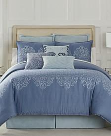 Black Label Lacework Collection Queen Comforter Set