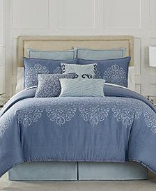 Eva Longoria Black Label Lacework Collection Queen Comforter Set