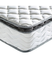 "Sleep Trends Davy 10"" Wrapped Coil Pillowtop Firm Mattress, Mattress in a Box - Twin"