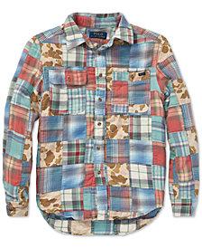 Polo Ralph Lauren Big Boys Patchwork Cotton Workshirt