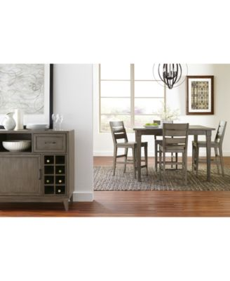 Vogue Dining Furniture 5 Pc Set Table 4 Counter Stools