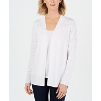 Deals on Karen Scott Petite Ottoman Pointelle Cardigan