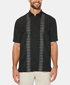 Cubavera Men's Embroidered Panels Short-Sleeve Shirt
