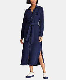 Polo Ralph Lauren Crepe Shirtdress