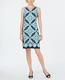 Charter Club Petite Medallion-Print Shift Dress, Created for Macy's