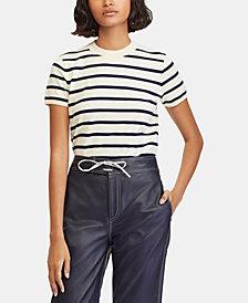 Polo Ralph Lauren Striped Short-Sleeve Sweater
