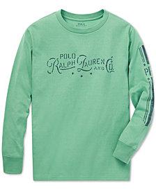 Polo Ralph Lauren Big Boys Graphic Long-Sleeve Cotton T-Shirt