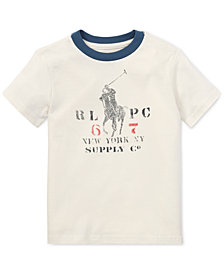 Polo Ralph Lauren Little Boys Graphic Cotton Ringer T-Shirt