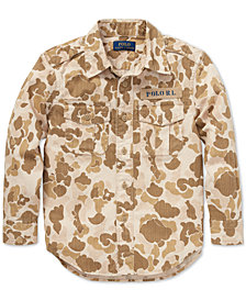 Polo Ralph Lauren Toddler Boys Camo Twill Cotton Shirt